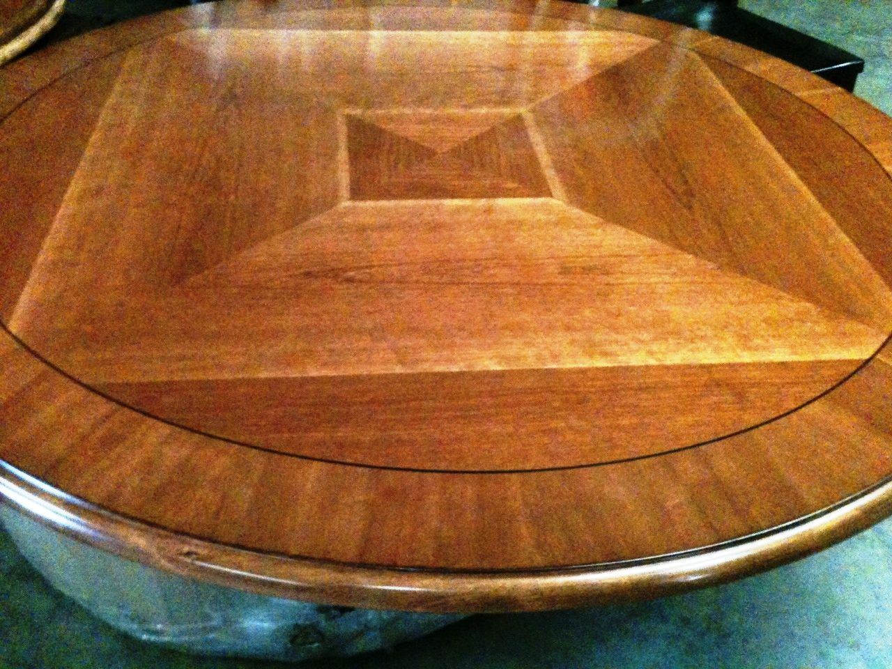 60 Quot Round Solid Wood Table Top 300 00 Finished Solid