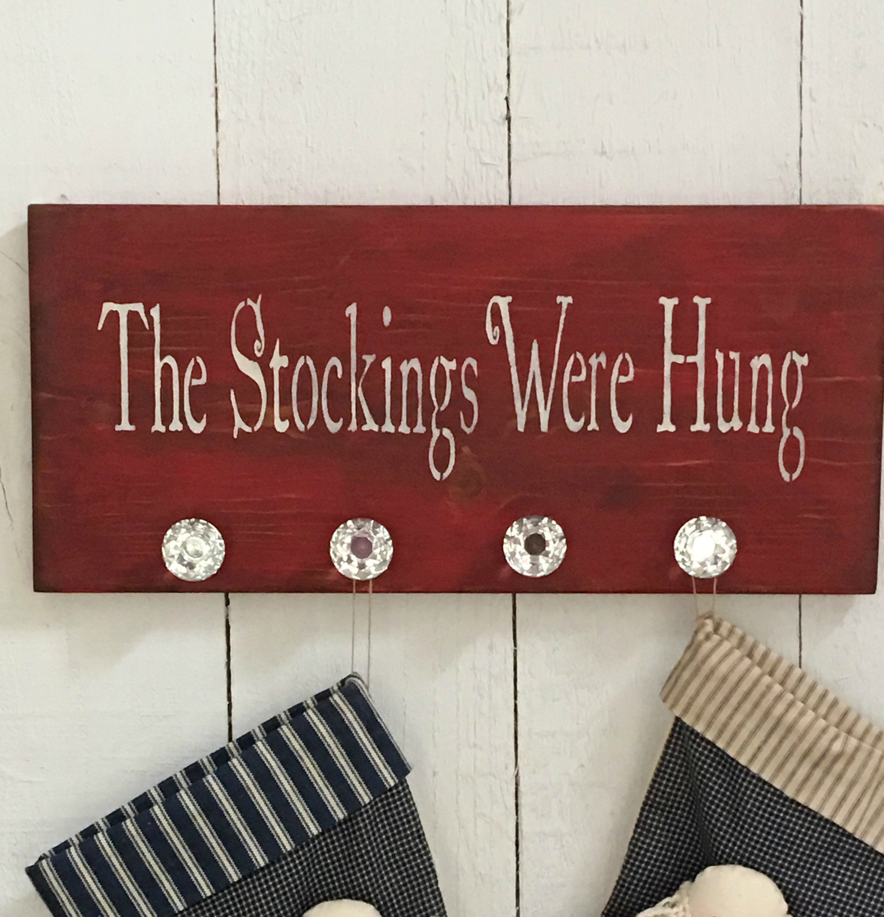 Stocking Hanger For Wall The Stockings Were Hung Christmas Etsy In 2020 Hanging Christmas Stockings Christmas Stocking Hangers Christmas Stocking Holders