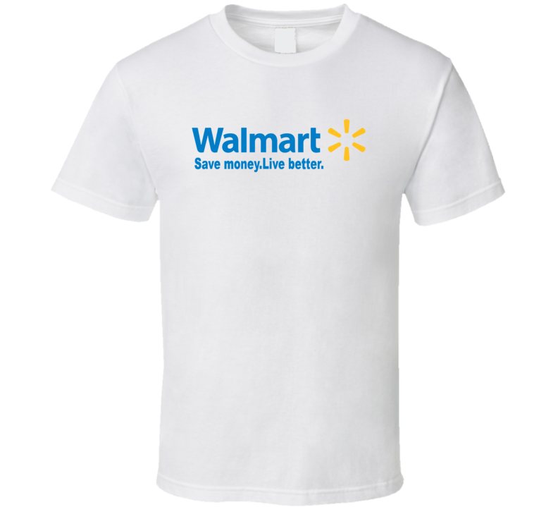 walmart logo save money live better t shirt