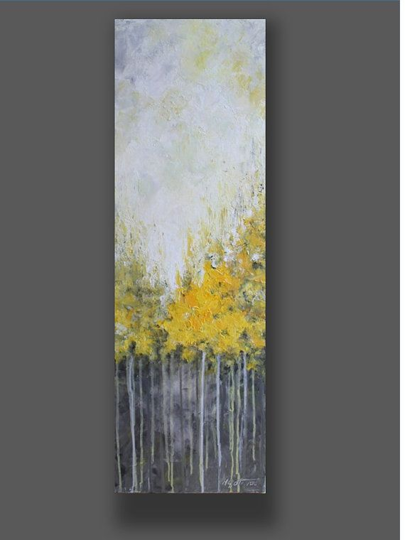 Photo of Ähnliche Artikel wie Acrylic Painting Yellow Abstract Painting Landscape Painting Wall Hanging Wall Art Painting  Home Decor Gift for Her auf Etsy