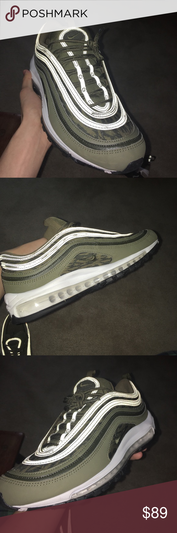 sneakers for cheap 922bb 60b10 AirMax 97 Tiger Camo Olive Worn twice minimal scuffs size 10 ...