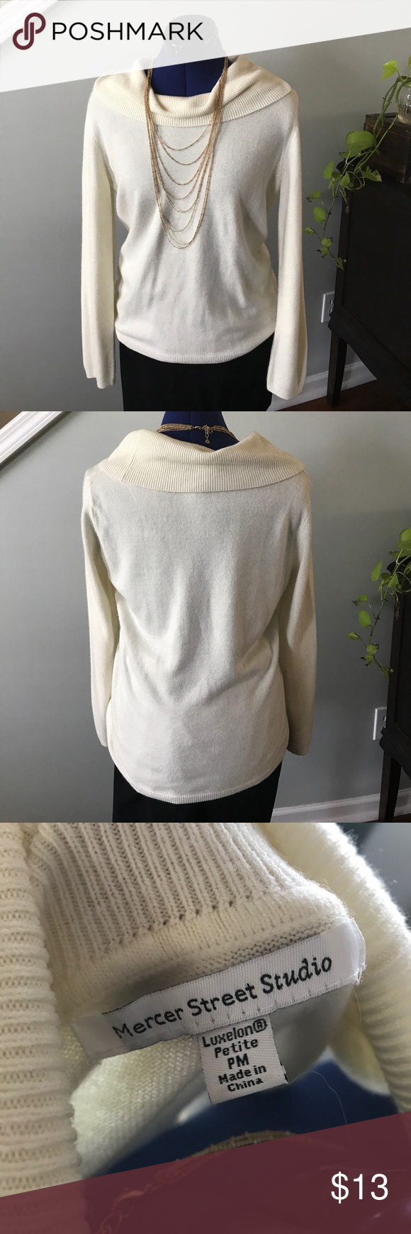 SO SOFT!!! Elegant cream cowl neck sweater | Cowl neck, Skinny ...