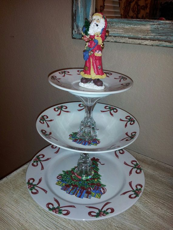 Adorable CHRISTMAS 3 Tiered Serving Dish by DowntownCowgurlShop, $18.00