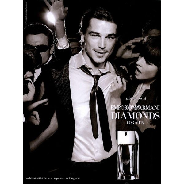 2cfdae36b9ee Emporio Armani Fragrance Ad Campaign Diamonds for Men Shot  1 - MyFDB ❤  liked on Polyvore featuring ad campaign and josh hartnett