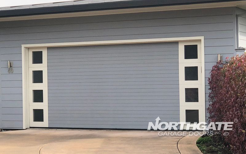Plank Flush Recessed Contemporary Garage Doors Garage Door
