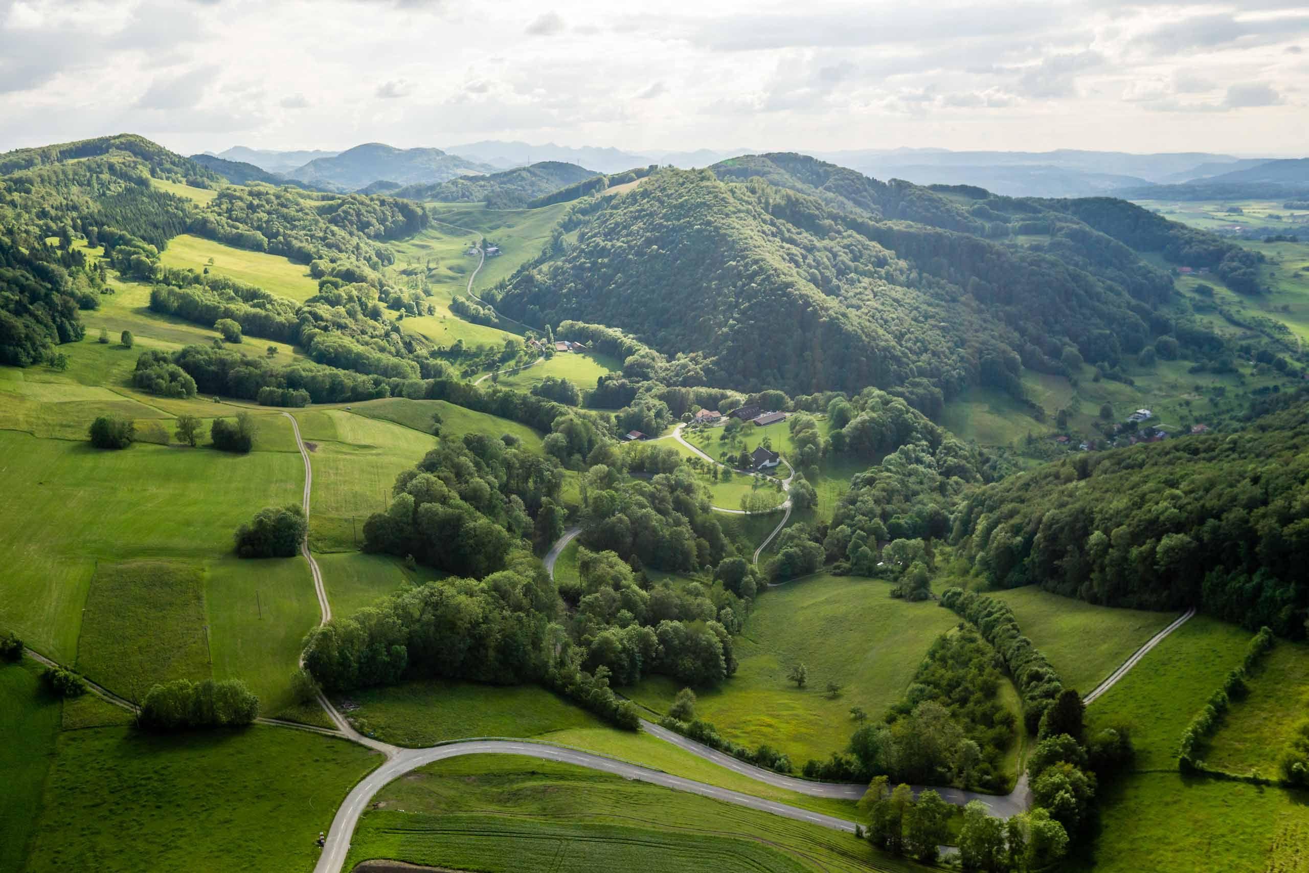 Luftaufnahme Jurapark Aargau | Luftaufnahmen Landschaften ...
