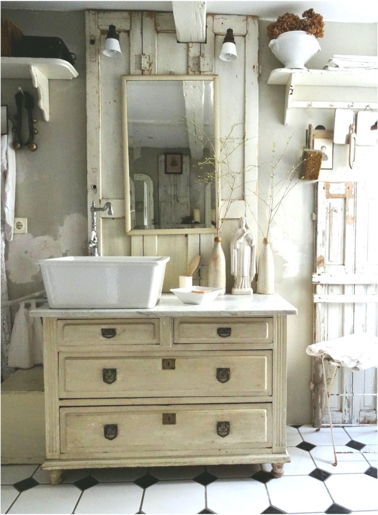 Vintage Badezimmer Schrank Mit Integriertem Waschbecken