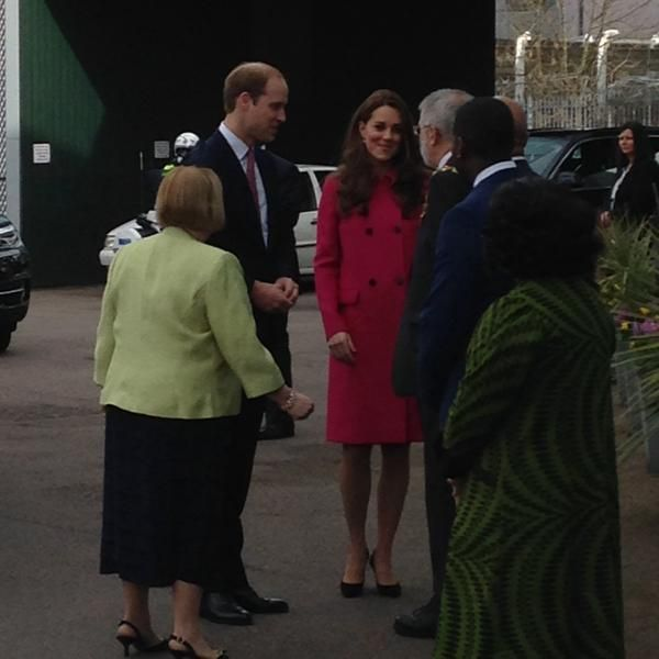 The Duke & Duchess of Cambridge arrive in @S_LawrenceTrust for a day of engagements in South London