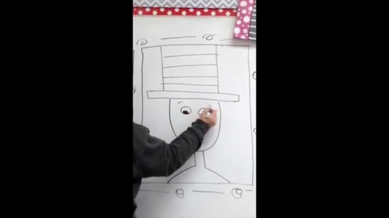 Cat Hat Normal Speed Cat Hat Directed Drawing Seuss