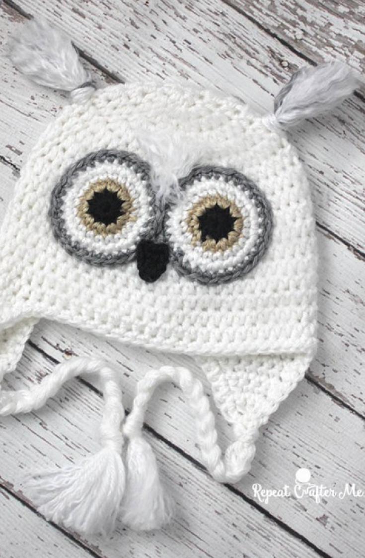 Guest Post: Crochet Snowy Owl Hat | Gorros, Patrones de sombreros de ...