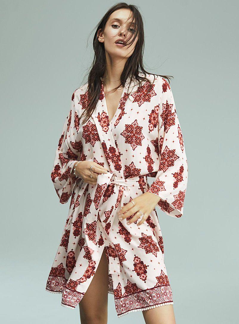 7a94f392fe36a Miiyu | Simons | Moroccan tile kimono robe | Shop Women's Robes Online  #maisonsimons #