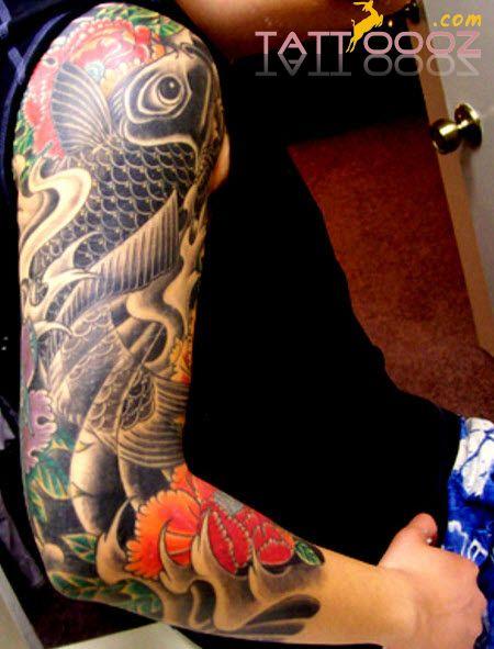 japanese koi fish sleeve tattoos for men japanese koi fish sleeve tattoos for tattoos. Black Bedroom Furniture Sets. Home Design Ideas