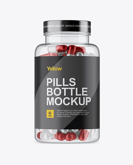 Download Clear Plastic Bottle With Metallic Pills Mockup In Bottle Mockups On Yellow Images Object Mockups Mockup Free Psd Mockup Free Download Mockup Psd PSD Mockup Templates