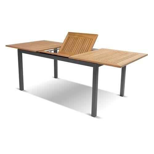 Contemporary dining table / teak / aluminum / rectangular SOUTH ...