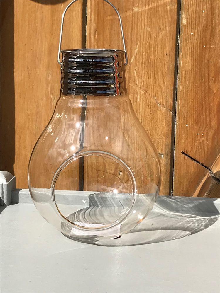 Succulent Style Hanging Glass Light Bulb Shape Candle Tea
