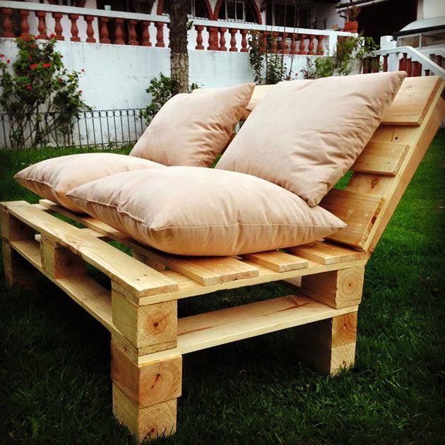 22 estupendos sillones y sofs hechos de palets de madera - Sillon De Palets