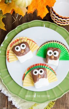 Thanksgiving Treats:: Reece's Spreads Marshmallow Turkeys