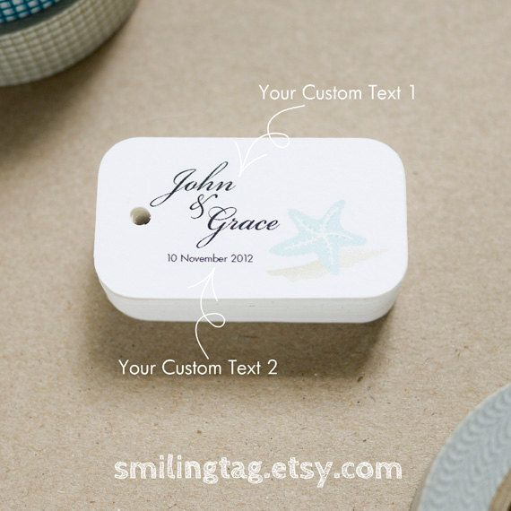 Beach Seaside Theme Wedding Favor Tags