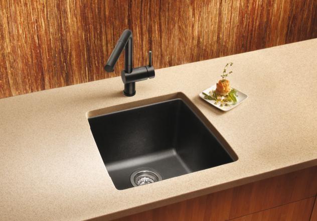 Blanco 440082 Performa Silgranit II Single Bowl Sink, Metallic Gray    Schillings