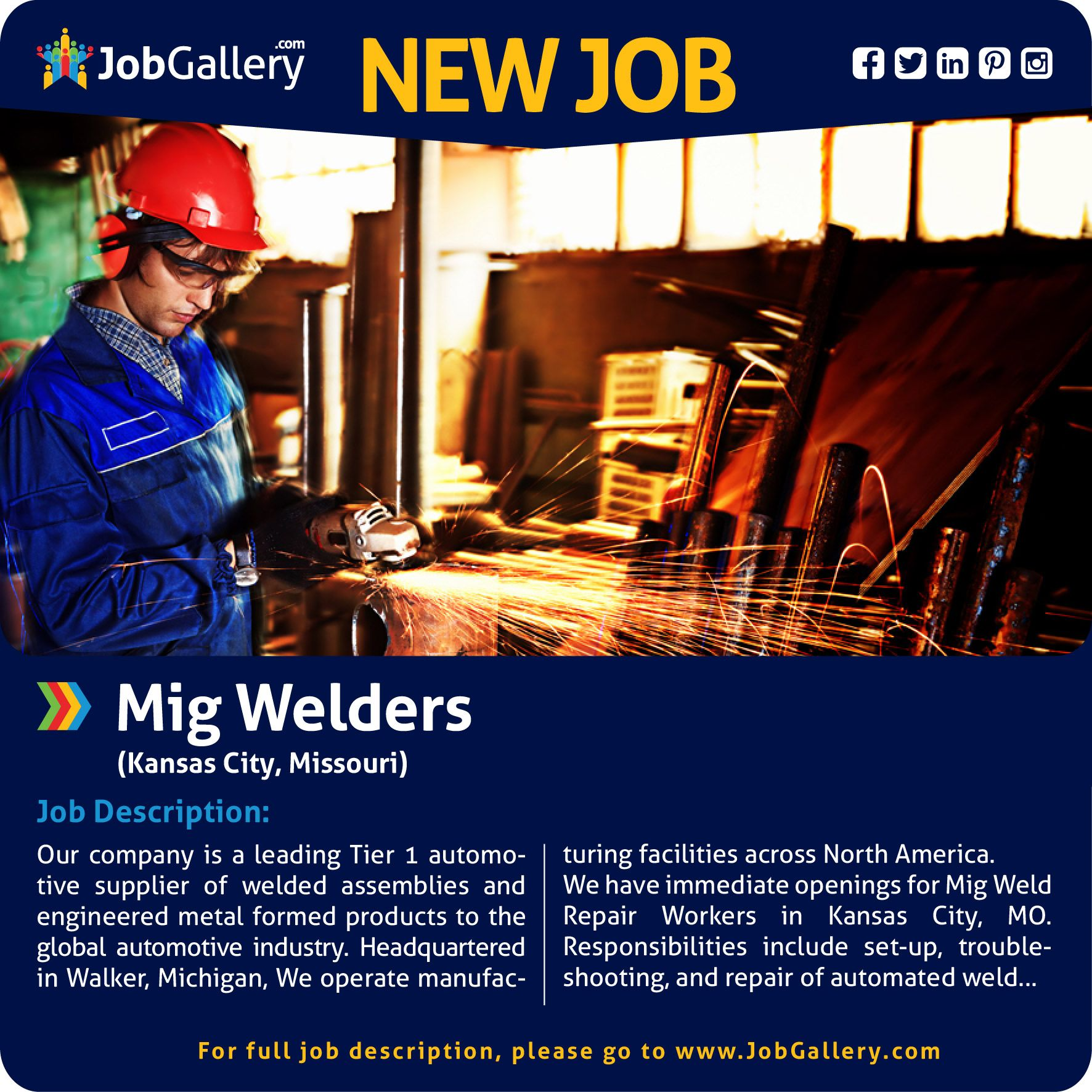 Seeking Mig Welders Kansas City Mo Jobs Jobopening Welding