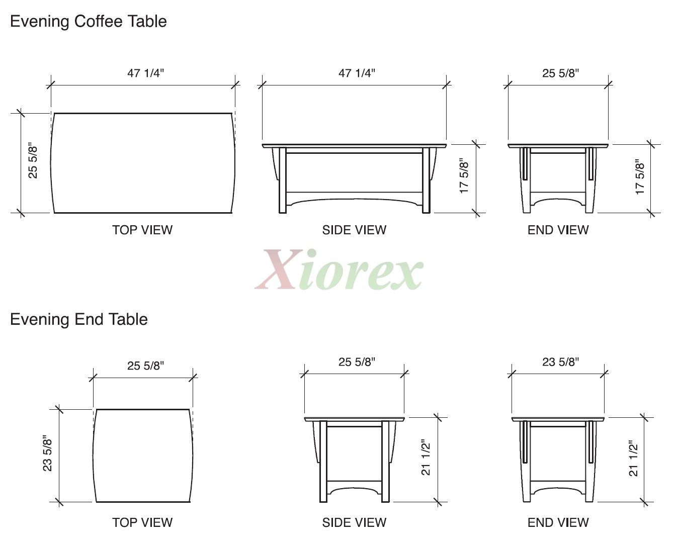 Coffee table height standard