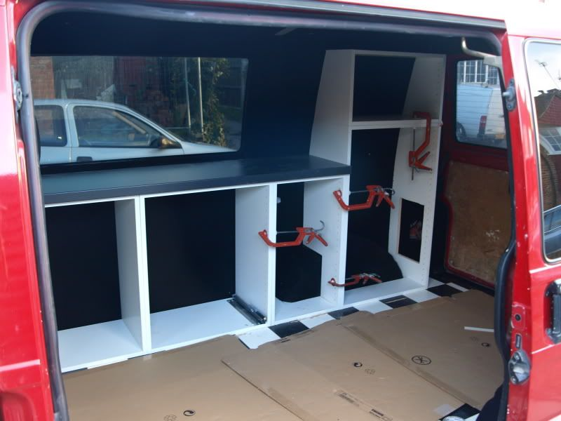 My new camper self build ikea stylie vw t4 forum vw t5 for Campervan furniture plans