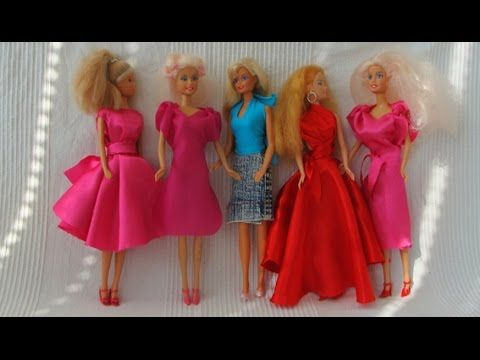 Video tutorial how to make a no-sew doll dresses for Barbie ...