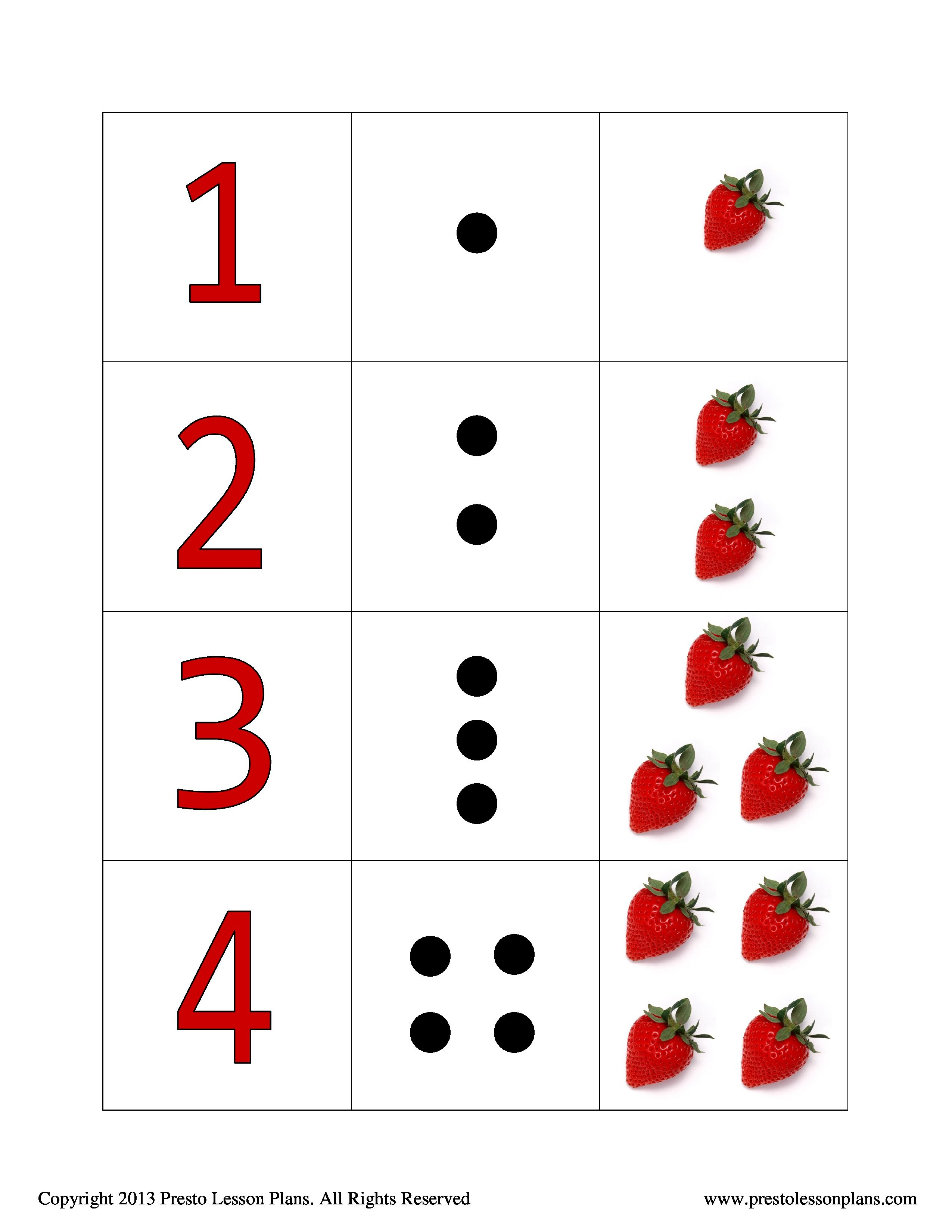 Strawberry Counting Cards Help Preschoolers To Learn Basic