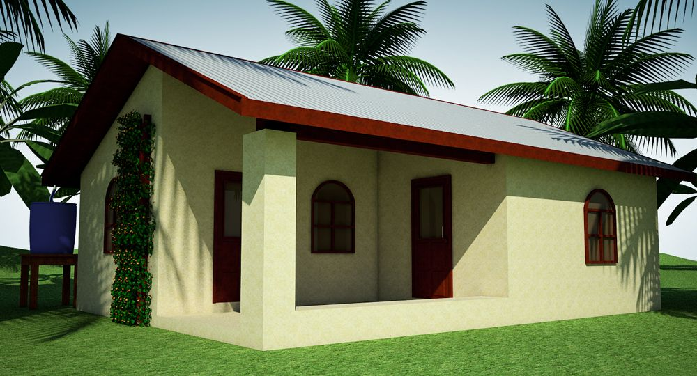 300 Earthbag House with Additions click to