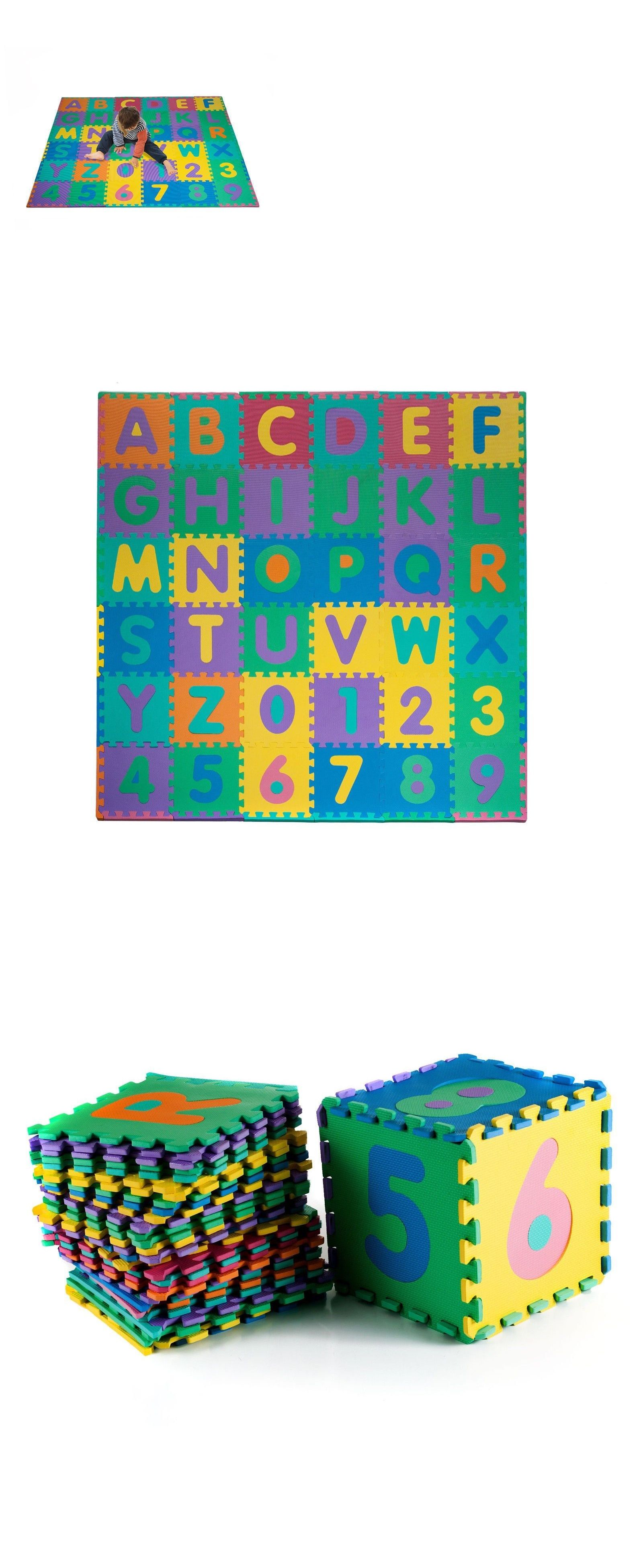 Blocks Tiles And Mats 145931 96 Pc Foam Floor Alphabet And Number Puzzle Mat For Kids 6 Feet Square Buy It No Puzzle Mat Foam Flooring Childrens Play Mat