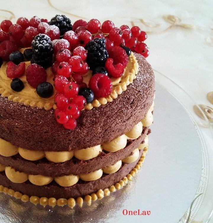 Naked cake cioccolato e mango | OneLav