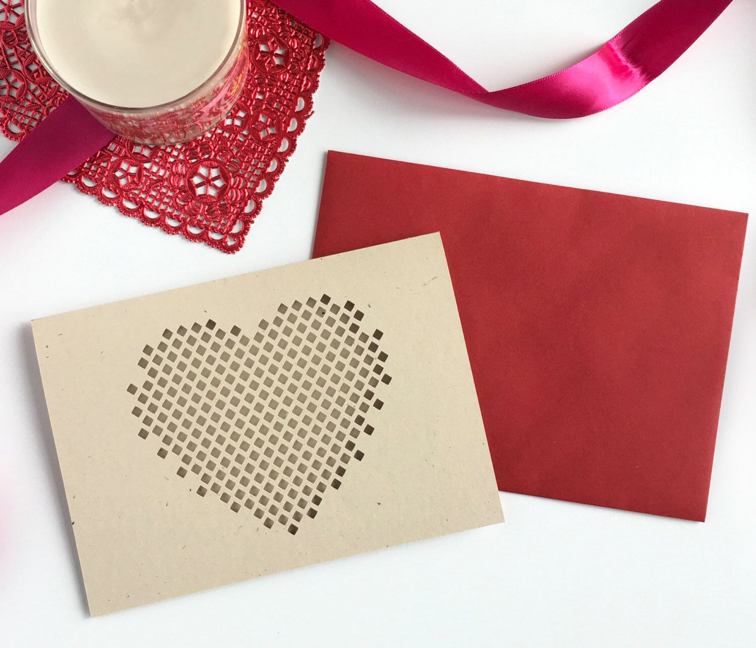 Heart valentines card valentines card him love card for him card