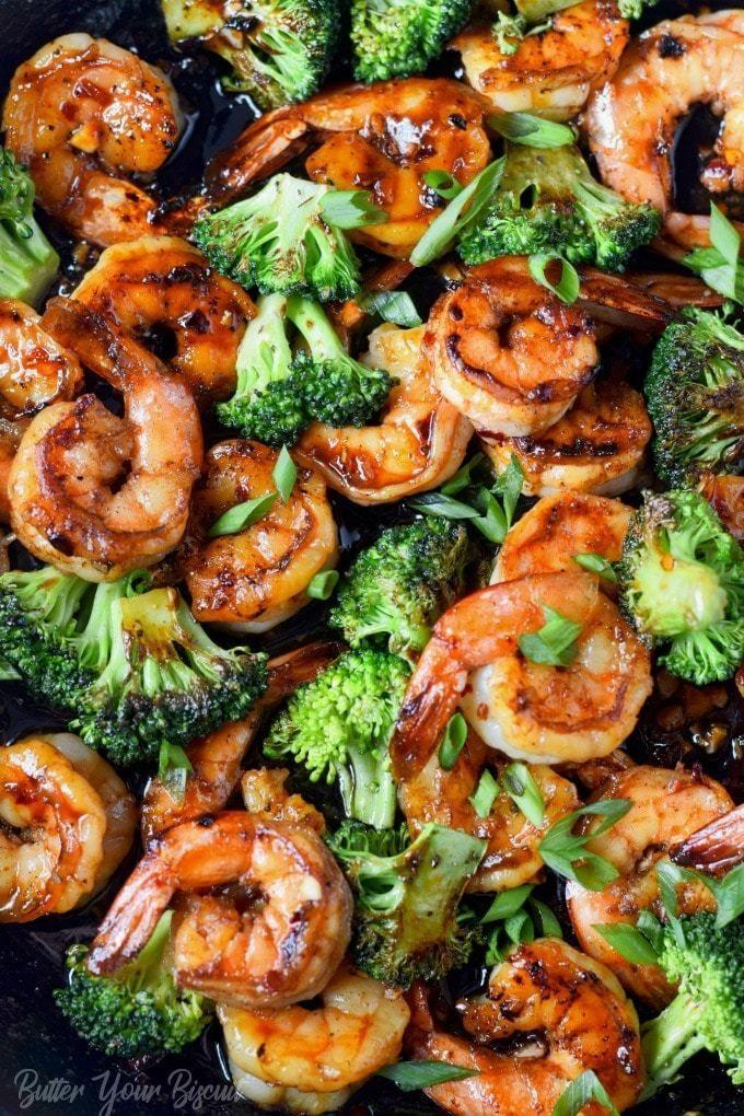 Honey Garlic Butter Shrimp & Broccoli