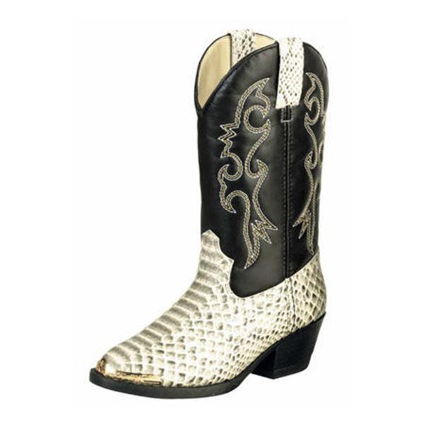 Laredo Youth Snake Skin Cowboy Boot for