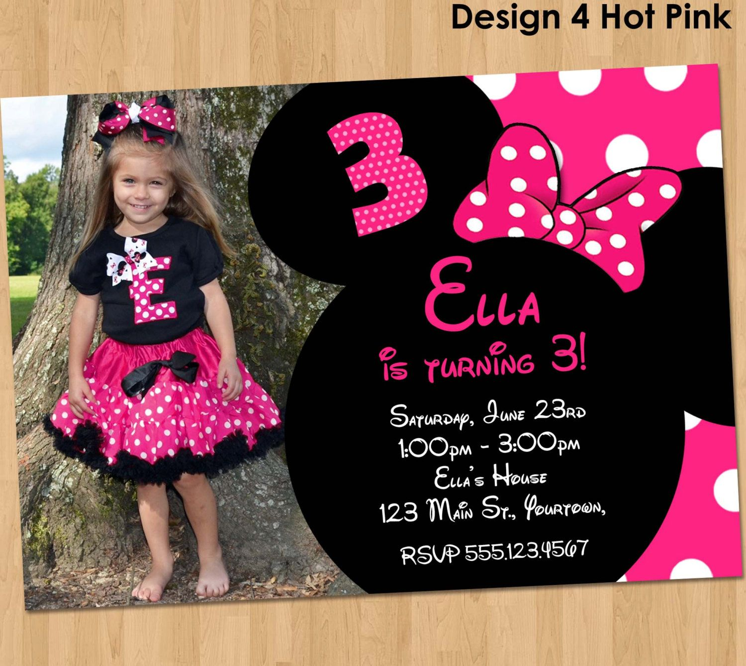 Minnie Mouse Invitation - Printable Birthday Party Custom ...