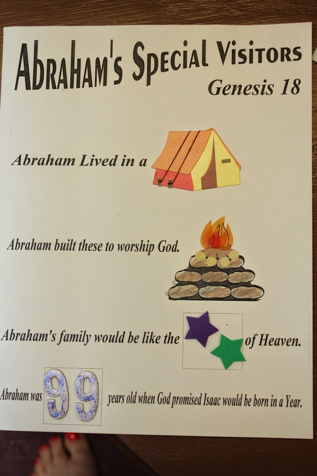 abraham and his guests sunday school # 30