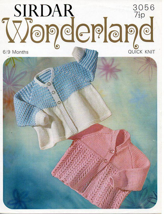 Vintage Baby Matinee Coats Knitting Pattern Pdf Dk Matinee Jackets