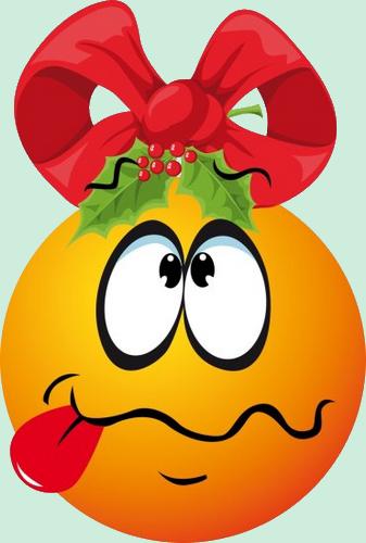 Gc Boule De Noel Orange Perplexe Qui Tire La Langue Smiley Emoticone Clipart Cartoon Telechargement Gratuit Et Sans Inscription Emoticons Emojis Emogis