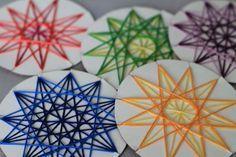 Gewebte Sterne                                                                                                                                                                                 Mehr #weaving
