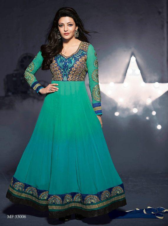 Indian Bollywood Pakistani Designer salwar Kameez, anarkali Salwar ...