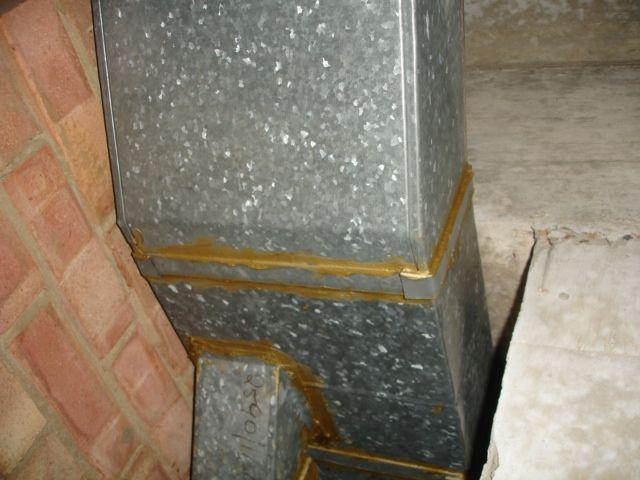 Asbestos Containing Mastic On Duct Www Envsurveys Com Mesothelioma Asbestos Attorneys