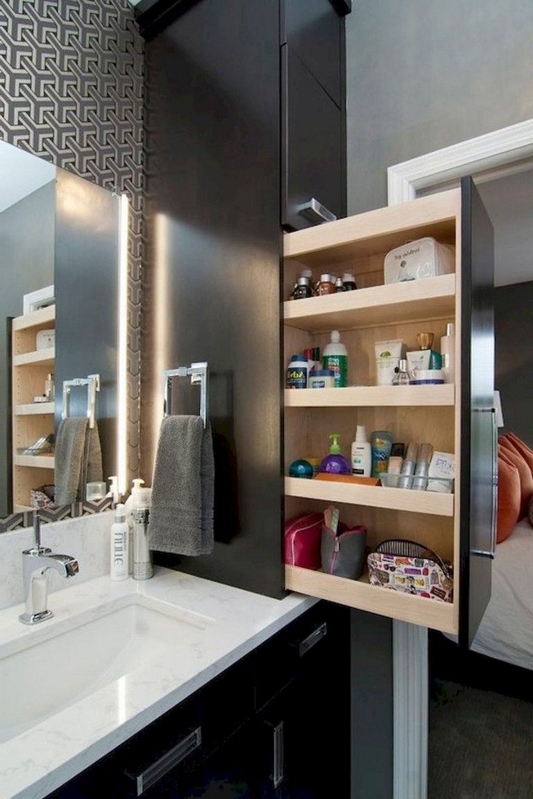 50+ Smart Bathroom Cabinet Storage Organization Ideas