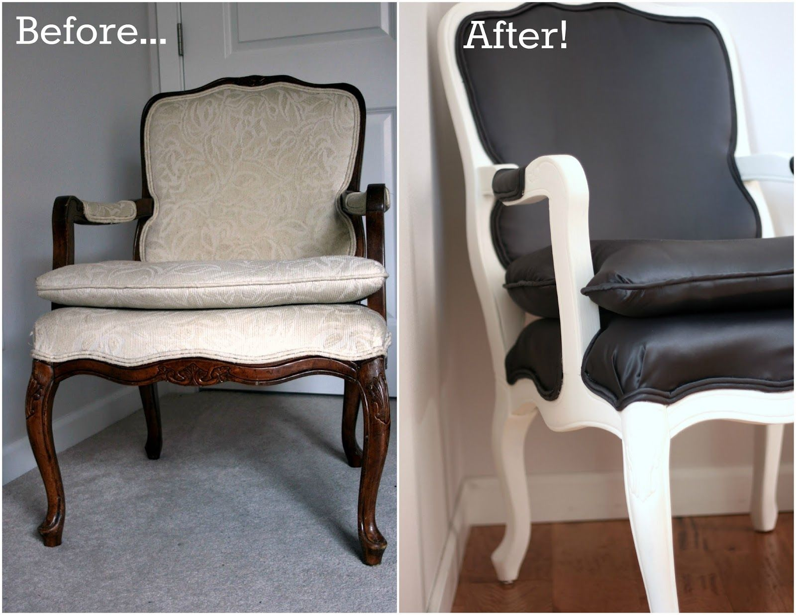 How to reupholster a louis chair - The Finished Product My Refurbished Louis Chair Part 3