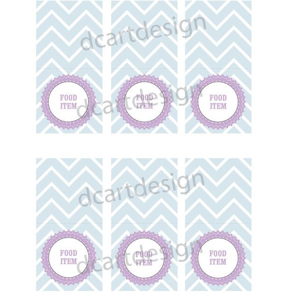 Beautiful Fancy Printable Food Labels. Pick Your Colors ...