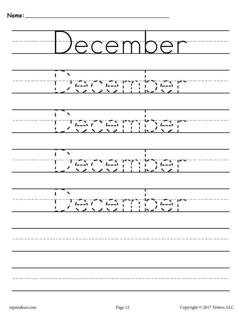 12 free months of the year handwriting worksheets summer school handwriting worksheets. Black Bedroom Furniture Sets. Home Design Ideas