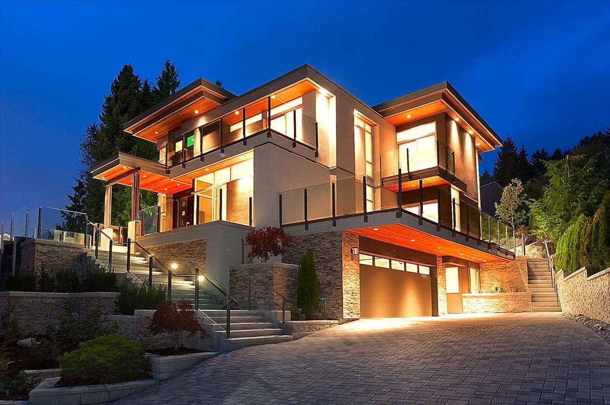 Situated in West Vancouver's most prestigious British Properties  neighbourhood, this spectacular contemporary five-bedroom residence  featuring approximately ...