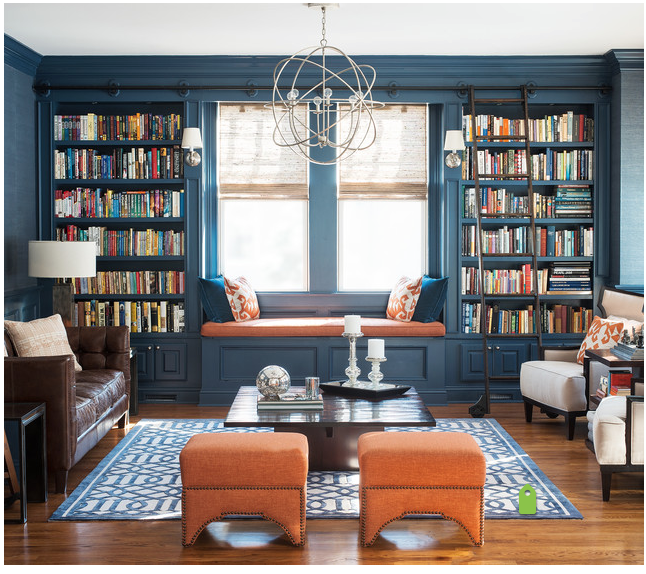 Library Music Room Color Scheme Home Library Design
