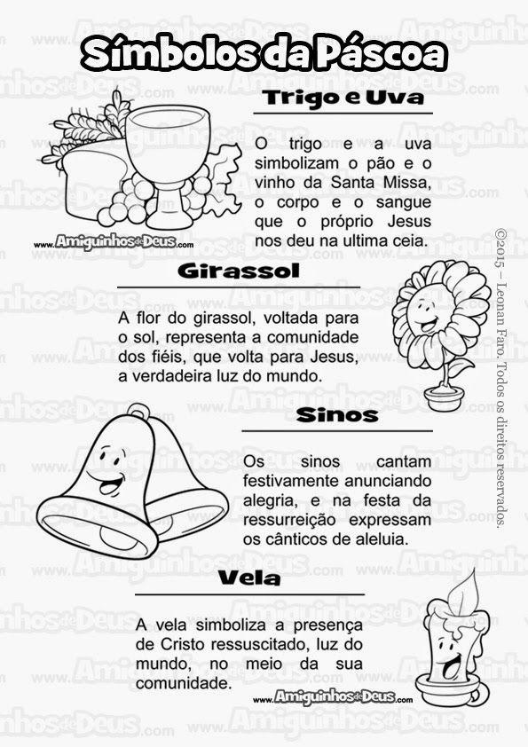 Simbolos Da Pascoa Para Colorir Pascoa Educacao Infantil