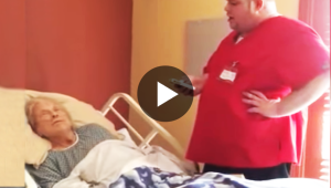 Hospice Worker Approaches Dying Woman's Bed While She Sleeps. Then They Catch THIS On Camera…