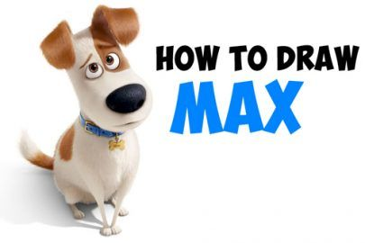 How to Draw Max from The Secret Life of Pets Easy Step